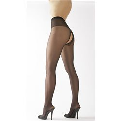 Meias Collants Com Abertura - Negro