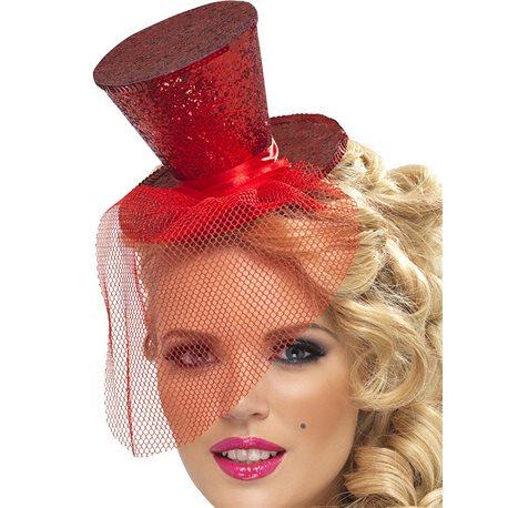 Mini Chapéu - Encarnado
