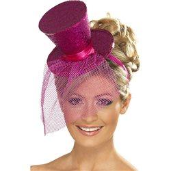 Mini Chapéu - Rosa Choque
