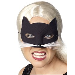 Máscara Gata - Negro