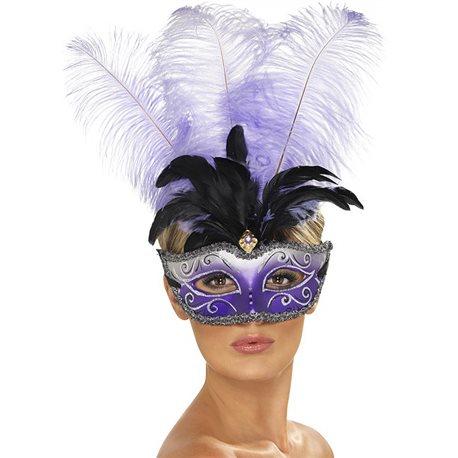 Máscara Veneziana Barroca - Roxo