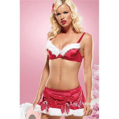 Sexy Conjunto de 2 Peças de Mãe Natal
