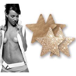 Adesivos Mamilos - Estrelas Douradas