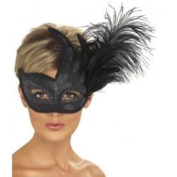 Máscara Veneziana - Negro