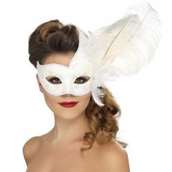 Máscara Veneziana - Branco